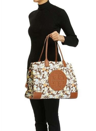 Tory Burch Tory Burch Colorblocked Çiçek Desenli Kadın Alışveriş Çantası 101624102 Renkli
